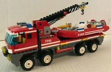 Rare Lego Off-Road Fire Truck & Fire Boat #7213  Retired Complete