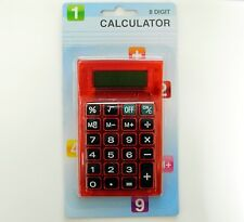 Calculatrice de bureau/de poche SIA, rouge -Calculator for pocket & desktop, RED