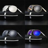 Polarized Sunglasses Men's Retro Pilot Metal Outdoor Driving Eyewear Glasses NEW