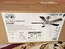 Hampton Bay Midili 44 in. LED Indoor Brushed Nickel Ceiling Fan *New*