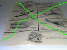R/N Models Free Flight RC Rubber power  1975 Catalog 2 pages