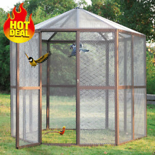 "93"" Huge Heavy Duty Parrot Macaw Flight Play top Cage Walk-in Bird Aviary Cage"