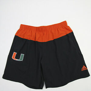 Miami Hurricanes adidas Athletic Shorts Men's Black/Orange Used