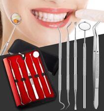 5er Dental Set Zahnreinigung Zahnsteinenterner Zahnsonde Zahnpflege Mundspiegel
