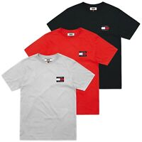 Tommy Hilfiger T-Shirt - Tommy Jeans Logo Badge Tee - Black, Red, Grey - BNWT