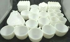 Vintage Milk Glass Assorted Lot Cups Pear Dish Mugs Pitcher Candy Dish Unbranded