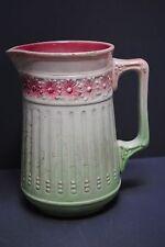 Ancien Pichet en Barbotine Décor Floral De Bruyn modèle 4795