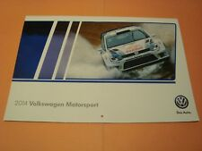 2014 VW VOLKSWAGEN CALENDAR RACE AND RALLY CARS MOTORSPORT DAS AUTO VW