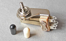 Switchcraft Angle Toggle 3 Way Switch For Gibson SG, ES w Black & White Tips