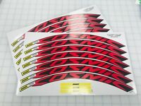 Mavic Cosmic Elite 30mm+ Wheel Decals/Stickers Set of 12 decals Rosso