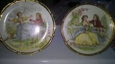 lot de deux assiettes decoratives en porcelaine de limoges