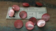 ♥Nr.P5 - Zauberhafte alte Perlmuttknöpfe koralle 10 Stück DM 15 mm ♥
