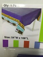 """Police Party Tablecloth Plastic Table Cover - 54""""W x 108""""L"""
