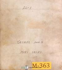 Mori Seiki Sl-1, Yasnac 2000G, Cnc Lathe, 210 page, Operations Manual