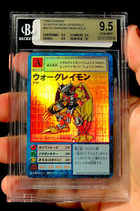 BGS 9.5 Digimon Vintage Card /St-61 War Greymon FOIL Japanese 1999 Bandai