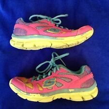 SKECHERS kid's girl's  leather running walking mesh athletic shoe size--12