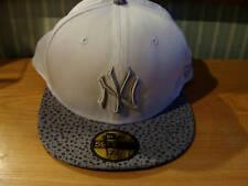 New York Yankees New Era Hat Pebble White Cap MLB 7 1/8
