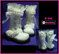 Custom Boots For Blythe/ Pullip/ Monster High/ Dal/ Momoko/ Licca/ Dal - B242,WH
