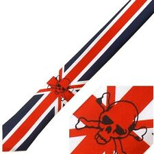 NEW PUNK ROCK HIPSTER NECKTIE TIE UK BRITISH ENGLAND FLAG UNION JACK SKULL TI060