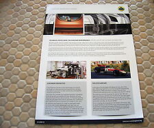 LOTUS CARS OFFICIAL ENGINEERING PROMOTIONAL BROCHURE 2013