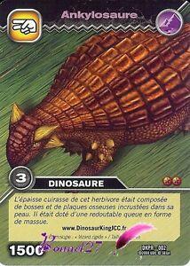 Carte Card Game DINOSAUR KING ALPHA DKPR-002 ANKYLOSAURE 1500 VF