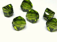 4pcs Swarovski® Lucerna Beads 5030 8mm Olivine