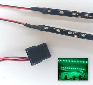 GREEN MODDING PC CASE LIGHT LED KIT (2 X 20CM STRIPS) MOLEX 40CM TAILS
