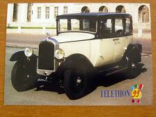 """Téléthon CITROËN """" C 4 """" 1929 1999 Carte postale Automobile Rétromobile old car"""