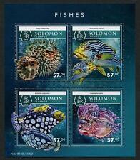 POISSON MNH MINI FEUILLE DE 4 timbres 2015 Solomon îles