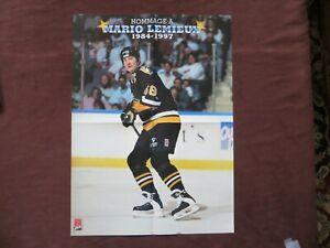 Original Mario Lemieux Poster Insert from Magazine 7 Jours NHL Hockey