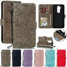 For Nokia 2.1 3.1 5.1 7.1 8.1 Lace Flower Wallet Case Flip Stand Leather Cover