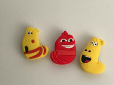 Red & Yellow LARVA Cartoon Croc shoe Charms And For Jibbitz Bracelet