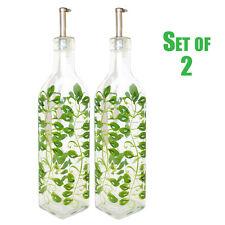 2 Oil Vinegar Cruet 16 oz Green Vines Grand Howard Hand Painted