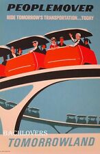 "PEOPLE MOVER Official Disney Attraction Poster 12 x 18"" NEW!"