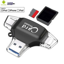 4 in 1 Micro USB/SD Type C OTG TF Card Reader for type c Android iOS iPhone 7 6S