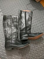 Corso Como Womens Size 9 M Black Leather Knee High Riding Boots