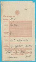 Postscheine Preußen Postschein COESLIN, handschr. vom 06.10.1844!