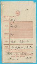 Postscheine Preußen Postschein Coeslin, Handschr. by the 06.10.1844