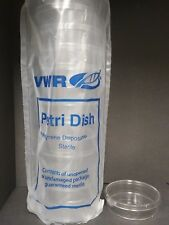 100 x 25 mm Extra Deep Sterile Plastic Petri Dishes Sterile 4 packs (52 plates)