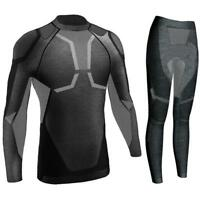 New Men Ski Thermal Underwear Set Skiing Jackets Windproof Winter Sports 4 Sizes