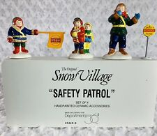 Dept 56 Snow Village - Safety Patrol #5449-6 Christmas Village Pre-Owned Ceramic