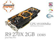  AMD R9 270X  2GB Ram ( GPU @1100 Mhz) for Mac Pro Metal 4K Mojave as HD7950