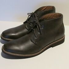 Men Guess Leather Boots Dress Shoe Brown Size 10.5 US 43.5 EUR