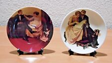 Norman Rockwell Miniature Plates Lot of 2
