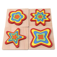 Montessori Educational Wooden Toys for Children Early Learning Puzzles Kids