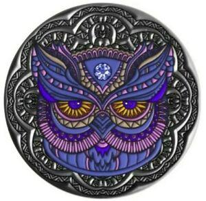 2020 2 Oz Silver Niue OWL Mandala Collection Coin