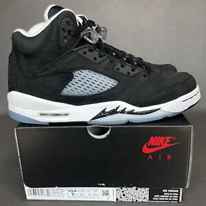 Nike Air Jordan 5 Retro Moonlight Oreo Women's Size 8.5 (GS 7Y) Black 440888-011