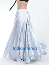 360 Full Circle Satin Long Skirt Swing Belly Dance Costumes Tribal S , M to 3XL