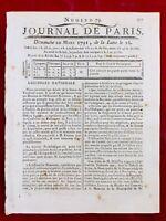 Guadeloupe en 1791 Colonie Canne à Sucre Douai Souppes sur Loing Ardennes