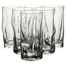 6x Bormioli Rocco Dinner 46cl Tall Glass Transparent Hi-Ball Tumbler Cup Party